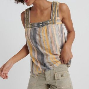 NWT Lucky Brand Square Neck Tank